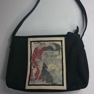 Vintage EGO Art Deco Shoulder Bag Dogs Black